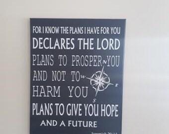 Insperational Bible Passage /Canvas /Wall Decor
