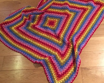 Baby raindow blanket