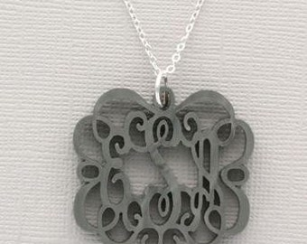 Monogrammed Heartstrings Emma Acrylic Necklace