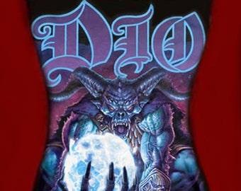 DIO diy halter tank top Master Of The Moon girly reconstructed metal rock shirt xs s m l xl
