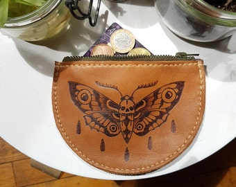 Wallet leather pyrograve