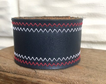 Hand-Stamped Leather Cuff by LRM