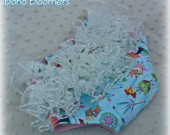 Baby Bloomers Diaper Cover Woodland Owl Teepee Blue Ruffle Butts Toddler Bloomers Cake Smash Lace Bloomer Boho Baby Bohemian Newborn Photo