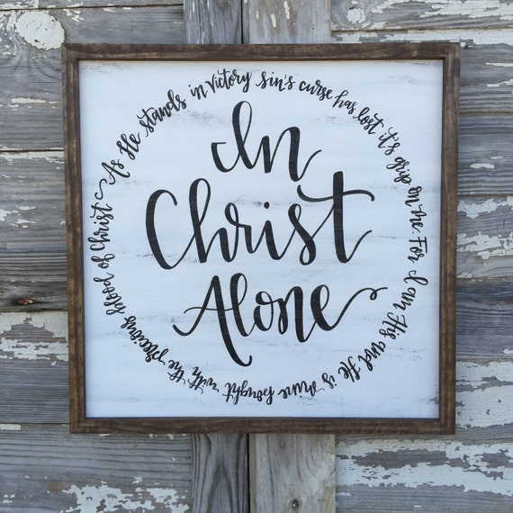 Items Similar To In Christ Alone // Hand Painted