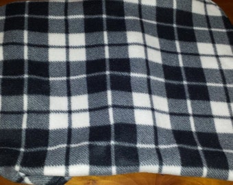Reversible Fleece Dog Coat, Winter Dog Coat, Plaid Dog Coat, Dog Clothing, Dog Apparel