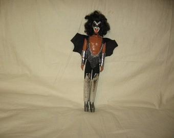 vintage 1977 mego  14 inch gene simmons kiss figure doll