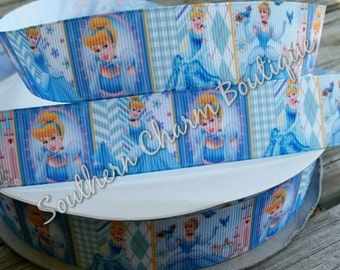 3 yards 1 inch cinderella grosgrain ribbon