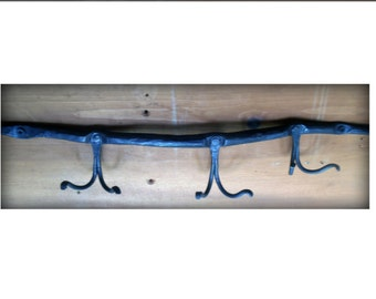 Hand Forged Coat/Towel Rack