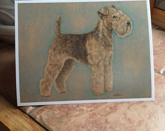 Airedale Blank Notecard