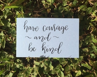 Pep Notes - Have Courage