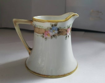Vintage Nippon creamer handpainted in Japan, coffee, tea, tea pot, milk
