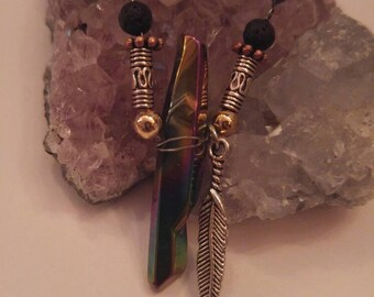 Oil Spill Crystal Necklace