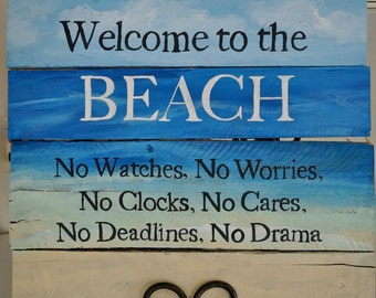 Welcome Beach Sign