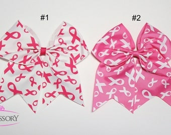 Breast Cancer Cheer Bow, Breast Cancer Awareness, Breast Cancer Bows, Pink Bows, Cheer Bows, Cheerbows, Gift for her, Breast Cancer Gifts,