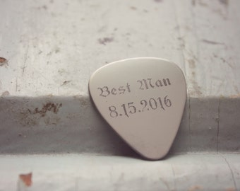 Custom Guitar Picks, Best Man Guitar Pic, Groomsmen Guitar Pick, Wedding Memento Gift