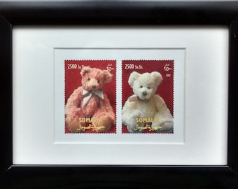 Teddy bears framed stamps