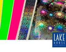 Neon Adhesive Sheets. Prism Sticker Sheets. Duck Tape Brand Adhesive Sheets.