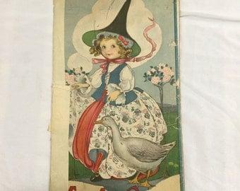MOTHER GOOSE book of rhymes 1917 Margaret Evans Price Art Stecher litho