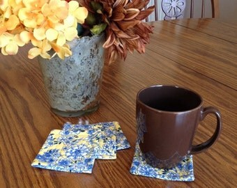 Handmade Quilted Coasters Set of 4
