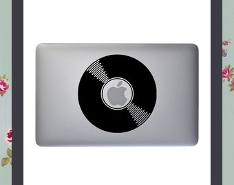 Mac Decal, Record Music Vinyl, Apple Macbook and other laptop sticker, laptop decal