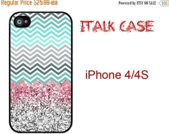 HOT SUMMER SALE Chevron with Sparkle iPhone 4S Case iPhone 4 CoveriPhone 4S phone case iPhone 4S iPhone Case iPhone Cover iPhone 4/4S   Chev