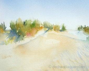 Dunes. Original watercolour.