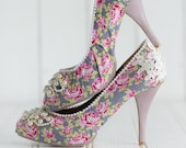 Stop and Smell The Roses Handmade vintage style shoes