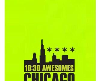 10:30 Awesomes - NEON YELLOW Neckwarmer/Buff Headband