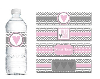 Baby shower water bottle labels – Etsy