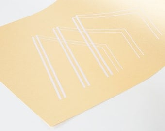 Metallic Print - Ed. 1 Pantone 691 on Gold