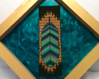 Rainbow Feather Bead Painting