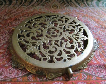 French Cast Bronze Trivet
