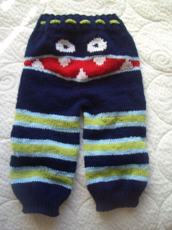 MADE to ORDER Knit Monster Pants Baby Knit Monster Pants