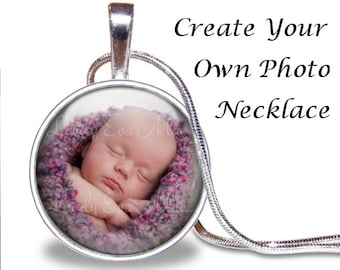 Custom Necklace, Photo Pendant, Glass Tile Necklace, Photo Jewelry, Photo Gift, Personalized Gift, Custom Jewelry, Smalll Gift, Silver