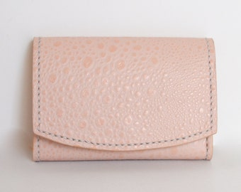 Leather Wallet, Womens Wallet, Pink Wallet, Rose wallet, Card Case