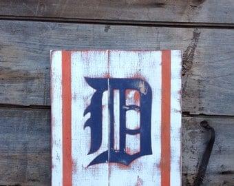 Detroit Tigers Rustic Sign, Tigers sign, rustic tigers sign, wood sign, sign, Detroit tigers sign, wood tigers sign, Detroit tigers, custom