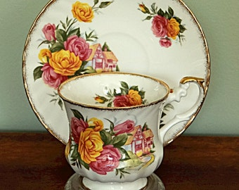 Queens Rosina China Tea Cup and Saucer Centenary Dear