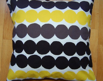 Rasymatto pillow case,Marimekko cotton fabric, from Finland, many sizes