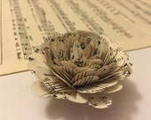 20 Vintage Sheet Music Flowers-Weddings-Gift Toppers-Decor-Centerpieces