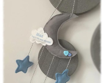 Moon & Stars Baby Mobile - custom made