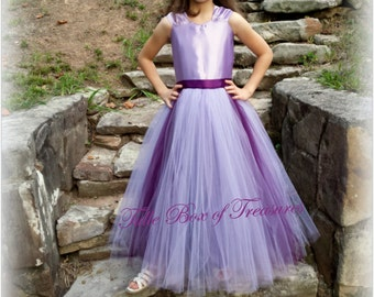 Lavender and Lapis one piece fully lined Bridesmaid Dress