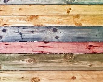 Wood Photography Backdrop, colorful weathered painted wood Floordrop, vintage peeling wood vinyl photo background, Newborn photodrop XT-4156