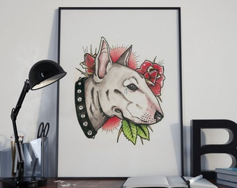 POSTER A3 (11,4x16,5 in) Bull Terrier