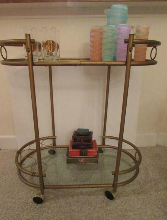 bar cart mid century modern bar cart brass two tier. Black Bedroom Furniture Sets. Home Design Ideas