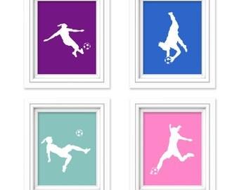 Girls Soccer Gift - Soccer Room Decor - Girls Room Decor - Soccer Print - Teen Room - Children's Room - Playroom Decor - Sports Nursery
