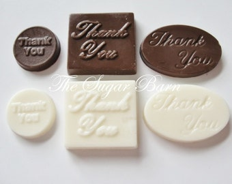 THANK YOU CHOCOLATE Mini Pieces*18-36 Count*Customer Appreciation*Cupcake Topper*Employee Appreciation*Thank You Gift*Retirement