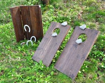 Lawn Games - Bean bag toss & Horseshoes - Free Shipping UK