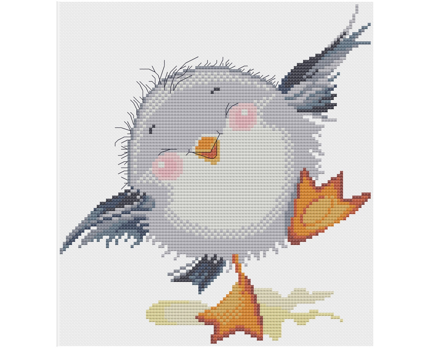 Baby Seagull Counted Cross Stitch Pattern X Stitch Pdf