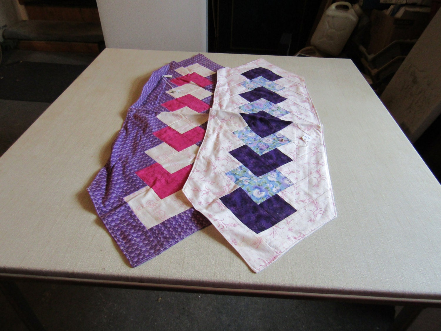 Two toned table runners 11x 33 for 11x table