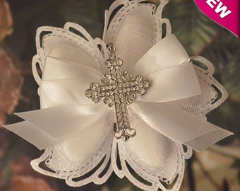 Confetti Flowers Almond  Flowers Baptism Christening Confirmation with cross Favors  Bomboniere